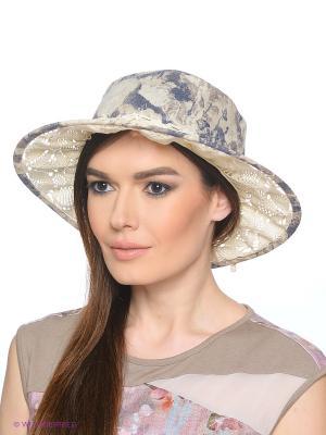 Шляпа Ваша Шляпка. Цвет: светло-бежевый, темно-серый