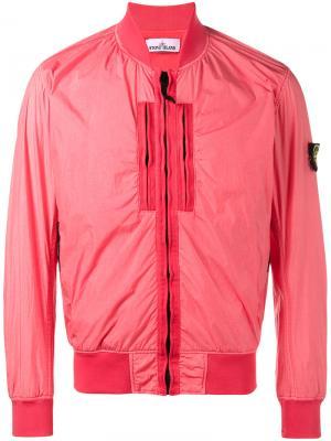 Куртка-бомбер Stone Island. Цвет: розовый и фиолетовый