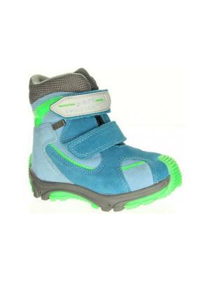 Ботинки Bartek. Цвет: голубой, салатовый, серый