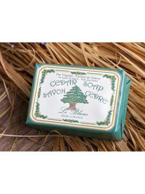 Косметическое мыло в картонной коробке Кедр 100гр. Le Blanc.. Цвет: зеленый