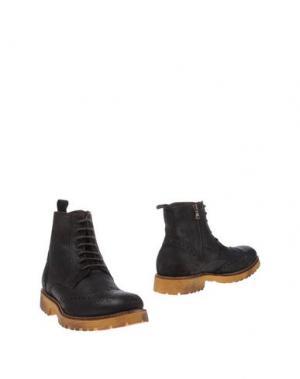 Полусапоги и высокие ботинки 1° GENITO. Цвет: темно-коричневый