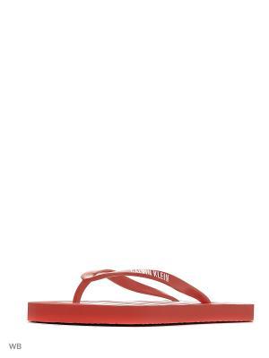 Шлепанцы Calvin Klein. Цвет: красный