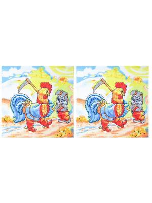 Набор махровых салфеток 30*30 см - 2 шт. Dorothy's Нome. Цвет: синий, красный