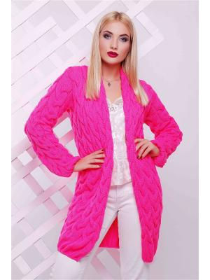 Кардиган Fashion Up. Цвет: малиновый