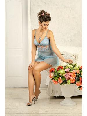 Сорочка Dea Fiori. Цвет: бирюзовый