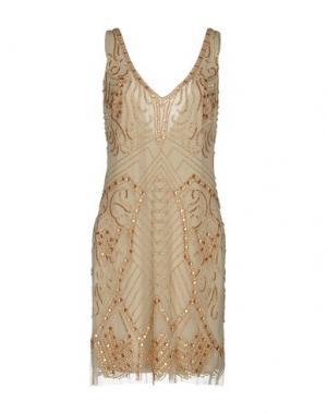 Короткое платье MUSANI COUTURE. Цвет: хаки