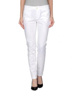 Повседневные брюки M.GRIFONI DENIM. Цвет: белый