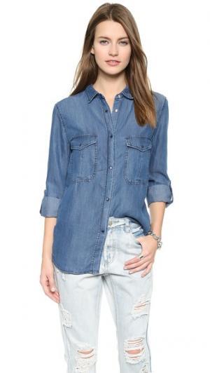 Рубашка Marlow на пуговицах RAILS. Цвет: винтажный темный стираный