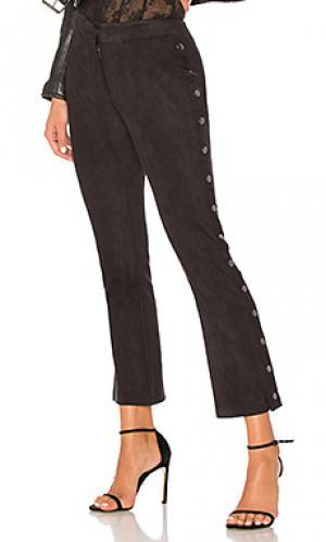 Замшевые брюки David Lerner. Цвет: черный