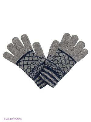 Перчатки United Colors of Benetton. Цвет: серый, темно-синий