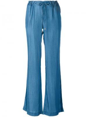 Расклешенные брюки с эластичным поясом Michael Kors. Цвет: синий