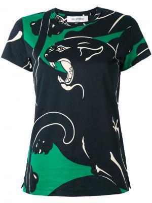Декорированная футболка Valentino. Цвет: чёрный