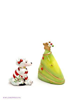 Набор соль-перец Пудель Pavone. Цвет: зеленый, белый