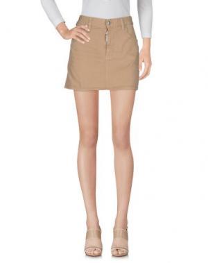 Джинсовая юбка DSQUARED2. Цвет: песочный