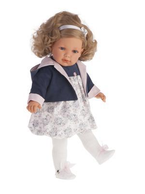 Кукла Аделина в синем, 55см Antonio Juan. Цвет: синий, светло-серый