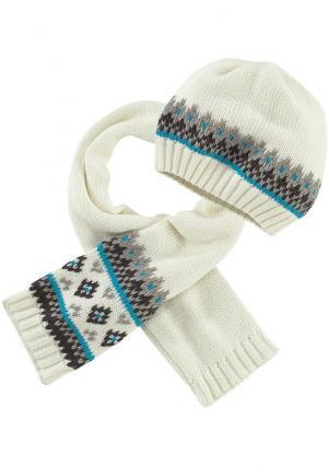 Комплект: шапка + шарф KLITZEKLEIN. Цвет: бирюзовый