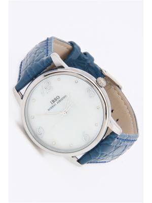 Часы на ремне IBSO. Цвет: голубой, серебристый