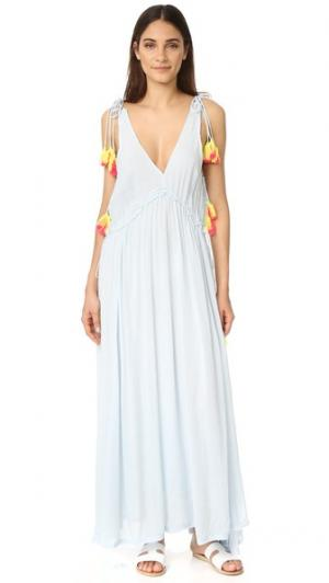 Длинное платье Brooke SUNDRESS. Цвет: светло-голубой