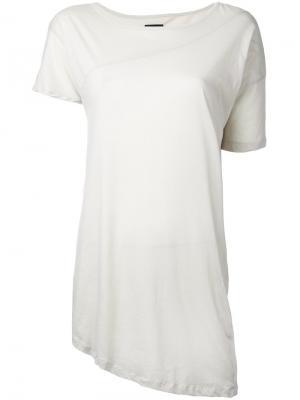 Асимметричная футболка Thom Krom. Цвет: серый