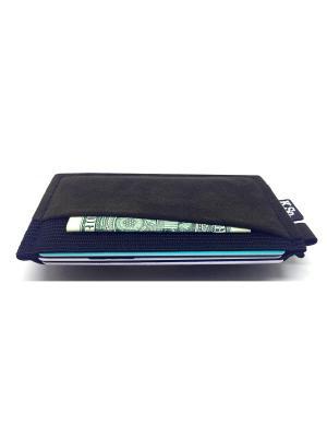 Мини кошелек кардхолдер K.So.A-Six K.So.. Цвет: черный, темно-коричневый