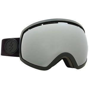 Маска для сноуборда  Eg2 Matte Real Black+bl/Brose/Silver Chrome Electric. Цвет: черный