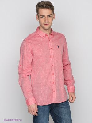 Рубашка U.S. Polo Assn.. Цвет: красный