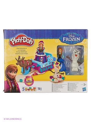 Игровой набор Приключение Анны на санях Hasbro. Цвет: желтый, синий