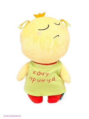Мягкая игрушка Смайл MAXITOYS. Цвет: зеленый, желтый