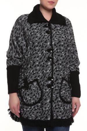 Жакет Текстильная Мануфактура. Цвет: черный