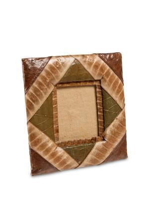 Фоторамка Рисовые террасы Decor & gift. Цвет: коричневый