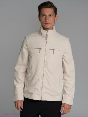 Куртка Al Franco. Цвет: бежевый