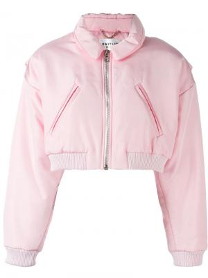 Укороченная куртка-бомбер Caitlin Price. Цвет: розовый и фиолетовый