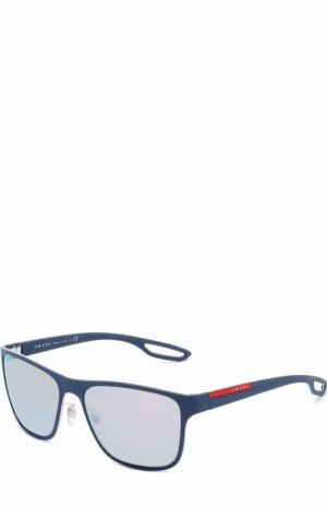 Солнцезащитные очки Prada Linea Rossa. Цвет: голубой