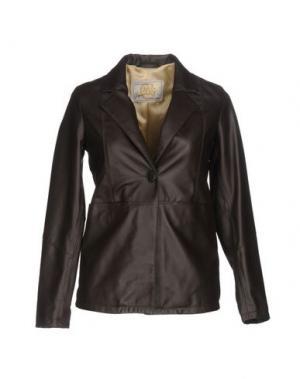 Пиджак VINTAGE DE LUXE. Цвет: темно-коричневый