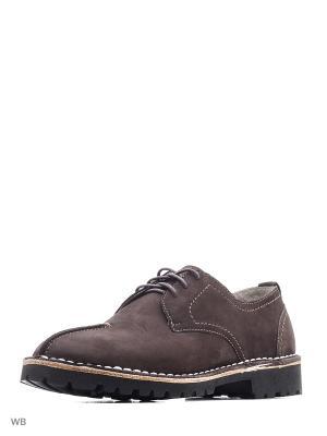 Туфли renne. Цвет: темно-коричневый