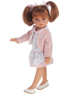 Кукла Эльвира летний образ, рыжая,33см Antonio Juan. Цвет: бледно-розовый