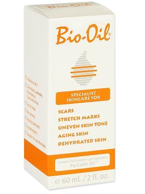 Масло косметическое от шрамов, растяжек, неровного тона, 60мл Bio-Oil. Цвет: прозрачный