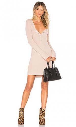 Платье с длинным рукавом giller Michael Lauren. Цвет: серо-коричневый