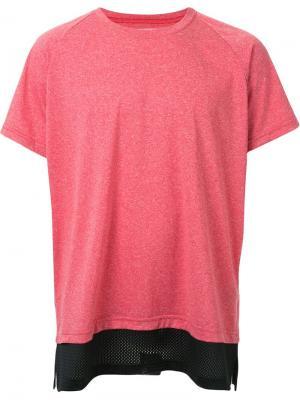 Многослойная футболка Ovadia & Sons. Цвет: красный