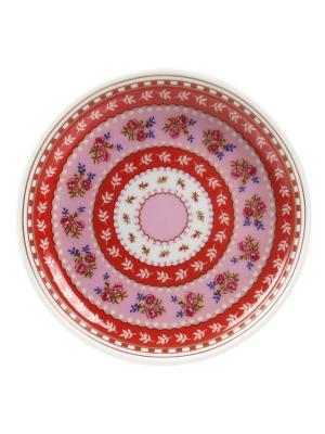 Набор из 4-х блюдец для чайных пакетиков Floral Pip studio. Цвет: красный