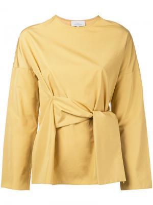 Блузка с запахом Studio Nicholson. Цвет: жёлтый и оранжевый