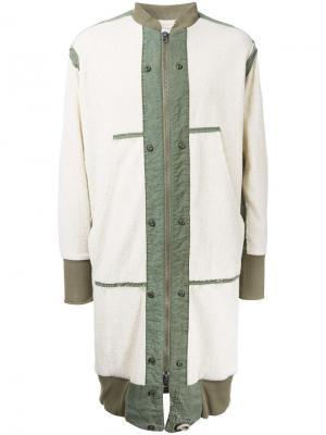 Длинное пальто Tent Greg Lauren. Цвет: белый