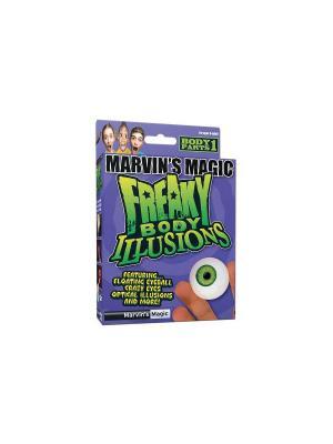 Набор №1 фокусов Смешные ужасы, иллзии с  глазами от Marvins Magic. Цвет: белый, зеленый