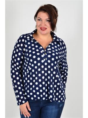 Рубашка женская Люкс Happiness. Цвет: синий