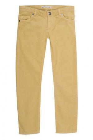 Желтые брюки в рубчик Bonpoint. Цвет: none
