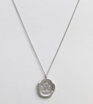 Serge DeNimes Матовое серебряное ожерелье с подвеской. Цвет: серебряный