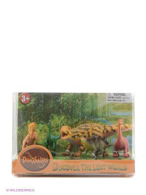 Набор фигурок Динозавры Happy Kin. Цвет: бронзовый, светло-коричневый, коричневый