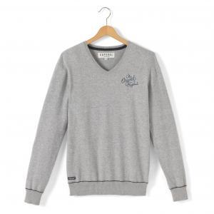 Пуловер с V-образным вырезом, 10-16 лет KAPORAL 5. Цвет: серый
