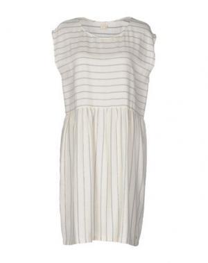 Короткое платье DES PETITS HAUTS. Цвет: бежевый