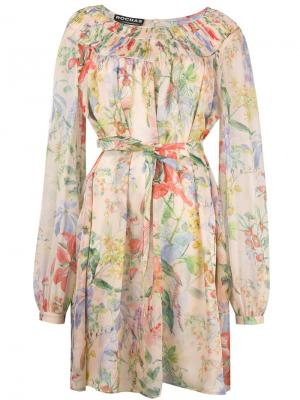 Floral print longsleeved dress Rochas. Цвет: многоцветный